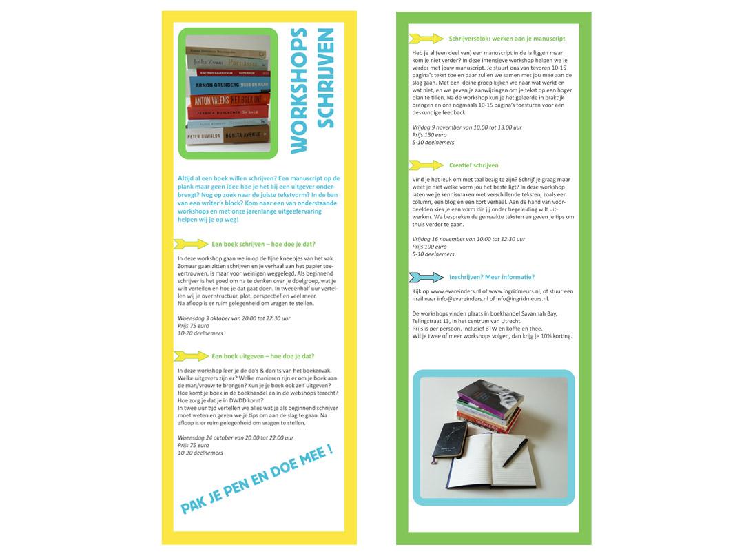 Flyer Workshops Schrijven
