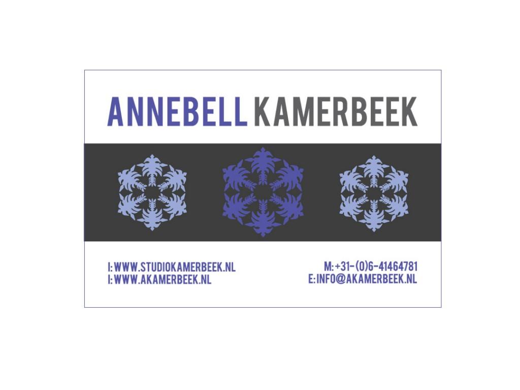 Visitekaartje Annebell Kamerbeek