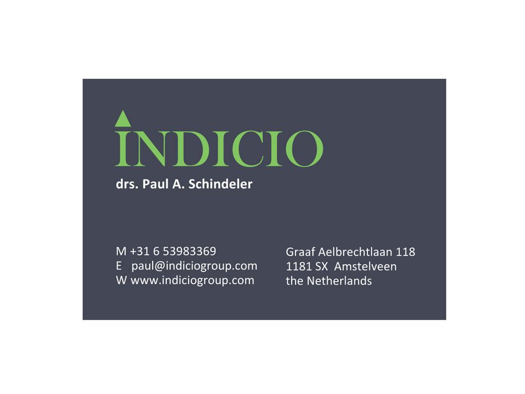 Visitkaartje Indicio